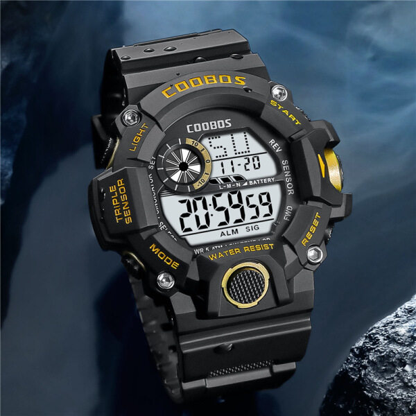 Đồng hồ Cool Boss 50m Đồng hồ bơi thể thao kỹ thuật số chống nước cho học sinh đồng hồ LED dạ quang 0819 bán chạy