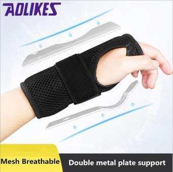 AOLIKES 1 ชิ้นข้อมือเฝือก-สนับสนุนข้อมือรั้งสำหรับโรคข้ออักเสบ T endonitis กับปาล์มเบาะ Pad ข้อมือแผ่นเหล็กเฝือกข้อมือ