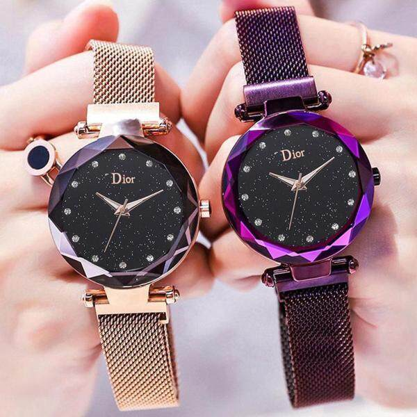 LF [Ready COD]Luxury Brand Womens Watch Minimalist Sky Star Magnet Buckle Fashion Casual Woman Waterproof Watch Malaysia
