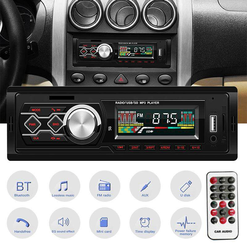 MWM Store Car Mp3 Radio Player DC12V Time Display U Disk Playback Remote Control Radio Bluetooth Player Stereo Universal Premium Fm Audio Carmp3player Mediaplayer