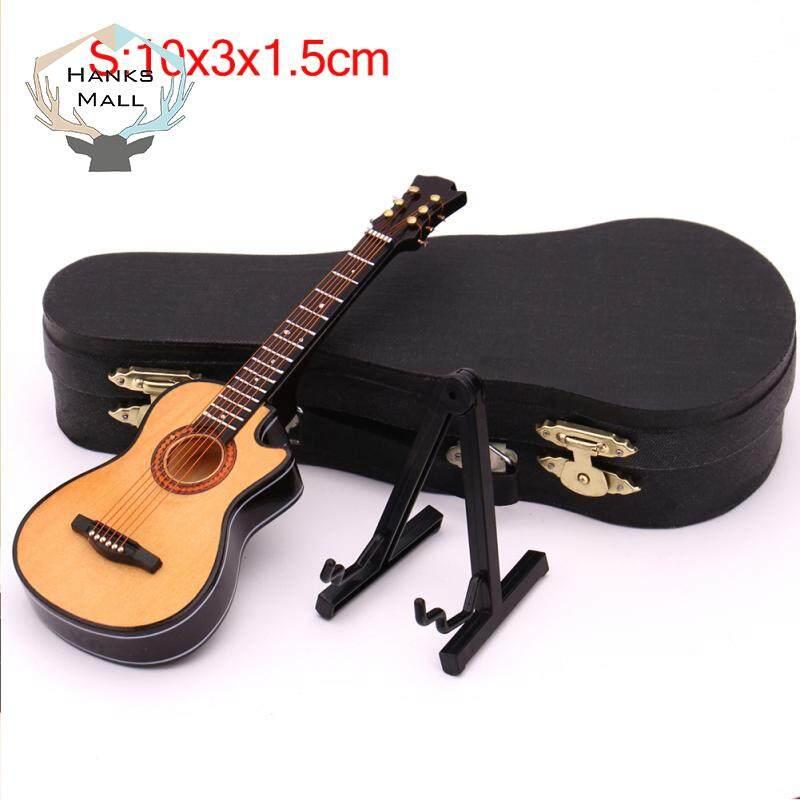 HK Mini Mất Tích Góc Dân Gian Đàn Guitar Mô Hình Thu Nhỏ Bằng Gỗ Mini Nhạc Cụ Bộ Sưu Tập Mô Hình với Ốp Lưng Đứng