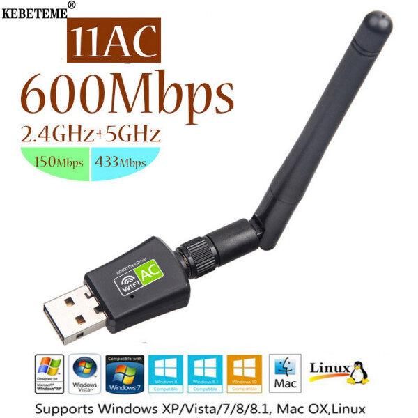 Bảng giá Thẻ Mạng KEBETEME Tốc Độ 600Mbps 5/2.4Ghz, Bộ Chuyển Đổi Wifi, Ăng Ten Mạng LAN Băng Tần Kép USB, Dongle Wifi Cho Win 7 8 10 RTL8811AU Phong Vũ