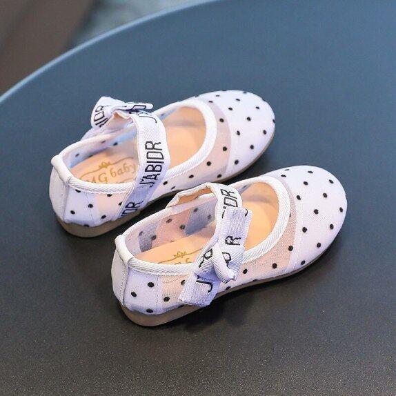 Giày Bé Gái Thanh Lịch Xuân Thu Giày Cho Trẻ Mới Biết Đi Trẻ Em Trẻ Em Pu Lưới Công Chúa Riband Bệt Thoải Mái Giày Khiêu Vũ Bé giá rẻ