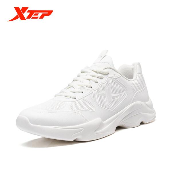 Giày sneaker nam đơn giản màu trơn phối lưới thoáng khí XTEP 880119325078