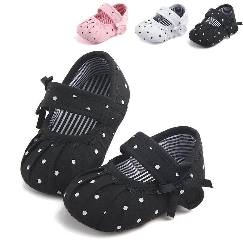 a33ec5d0f95d Newborn Baby Girl Soft Sole Canvas Crib Shoes Anti-slip Sneaker Prewalker 0- 18M