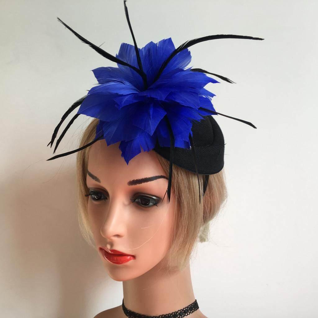 Dusty Pink Fascinator Wedding Race Royal Ascot Head Piece on Headband /& Clip