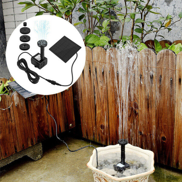 【100% Original+COD】NEW!Solar Powered Water Pump Panel Garden Patio Pool Pond F-i-s-h Aquarium Fountain