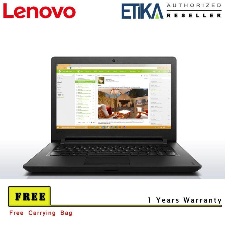 Lenovo 110-14IBR 80T6009TMJ Intel Pentium 14 Laptop (Black) - Free Carrying Case Malaysia