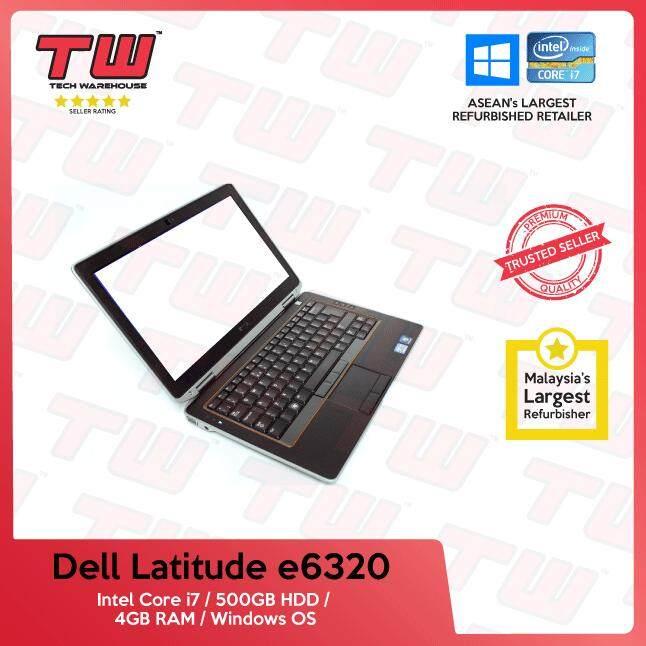 Dell Latitude E6320 Core i7 / 4GB RAM / 500GB HDD / Windows OS Laptop / 3 Months Warranty (Factory Refurbished) Malaysia