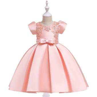 4 สี Bow - Knot เค้ก Tutu เสื้อผ้าเด็ก Elegant Hand beading หญิงชุดเจ้าหญิงปาร์ตี้ Custumes 3-10 ปี-