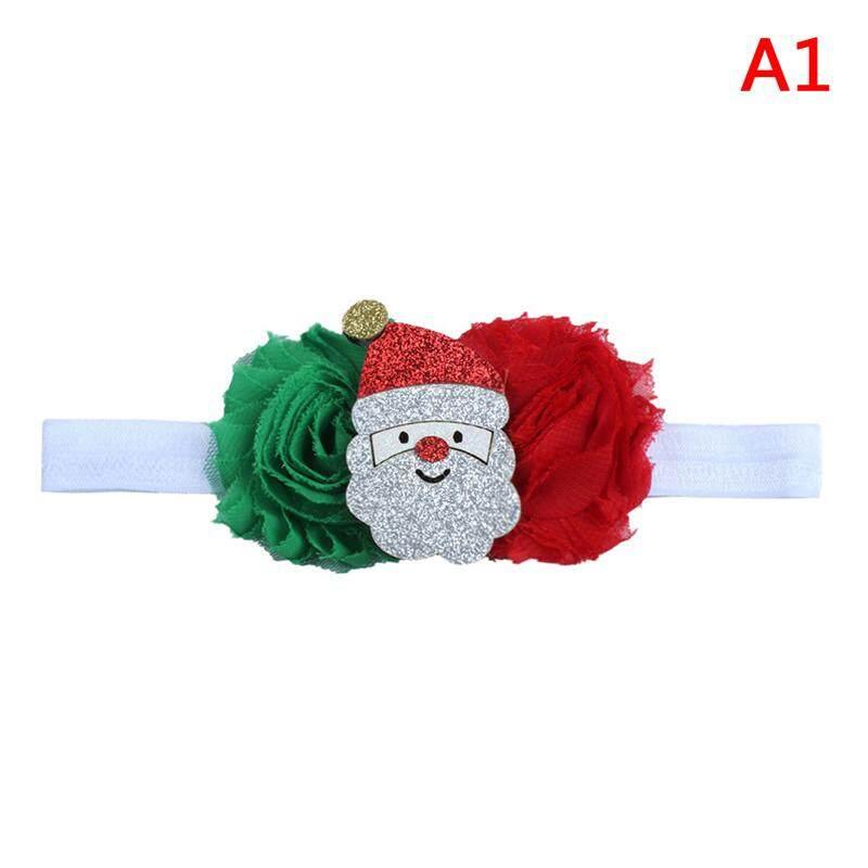 หัวใจสีสันคริสต์มาสยืดเด็กสาวเครื่องประดับผม Headband เด็กทารกที่รัดผม A1 By Colorful Heart.