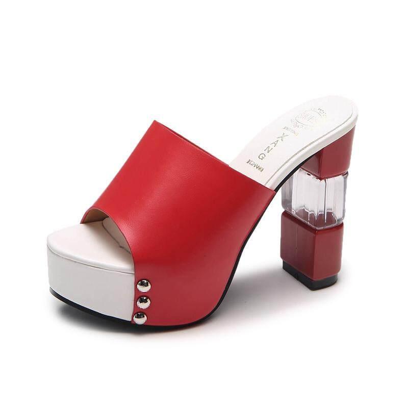 9bc5c73cb485 TLL Fashion Beauty City High-heel Sandals Platform Heels Shoes Peep-toe  Mules Slip