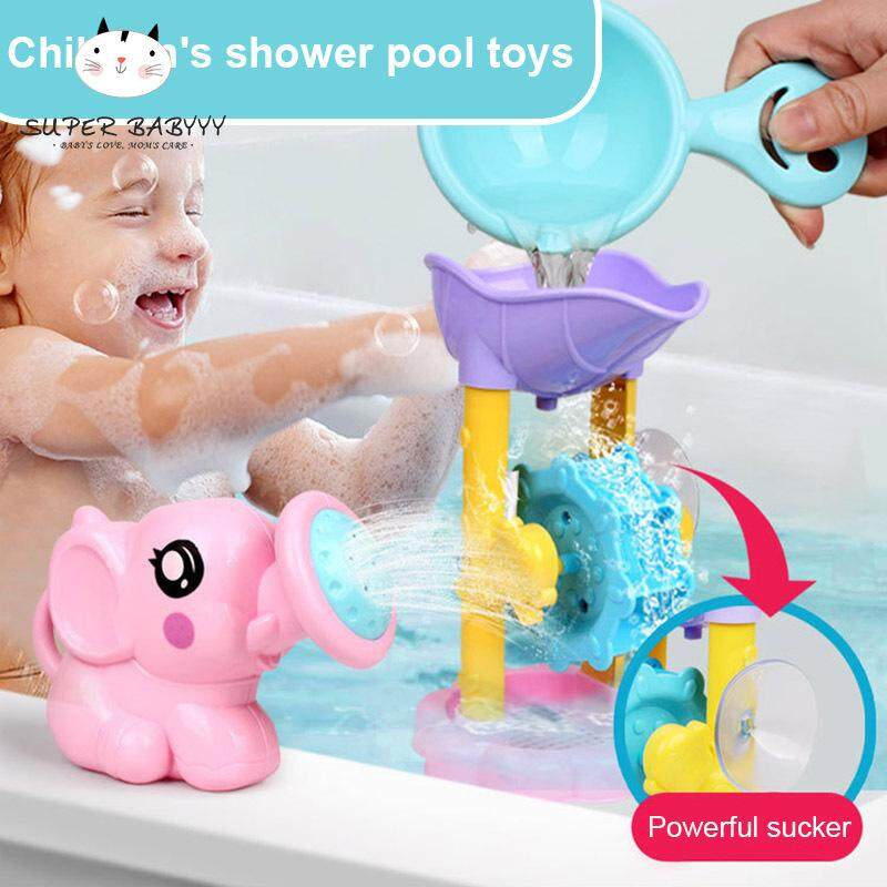 Sby 1 Set Bath Toy Shower Spray Water Waterwheel Bathtub Accessories For Bathroom Kids By Super Babyyy.