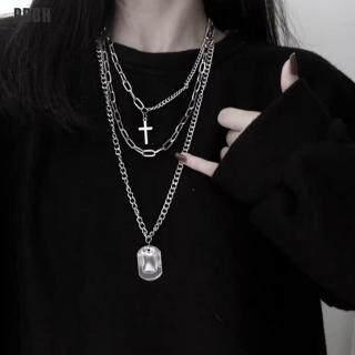 [PDBH Fashion Store] Mặt dây chuyền chữ thập Kim loại Chuỗi dài Punk Vòng cổ thời trang Phụ nữ Nam giới Quà tặng đồ trang sức thumbnail