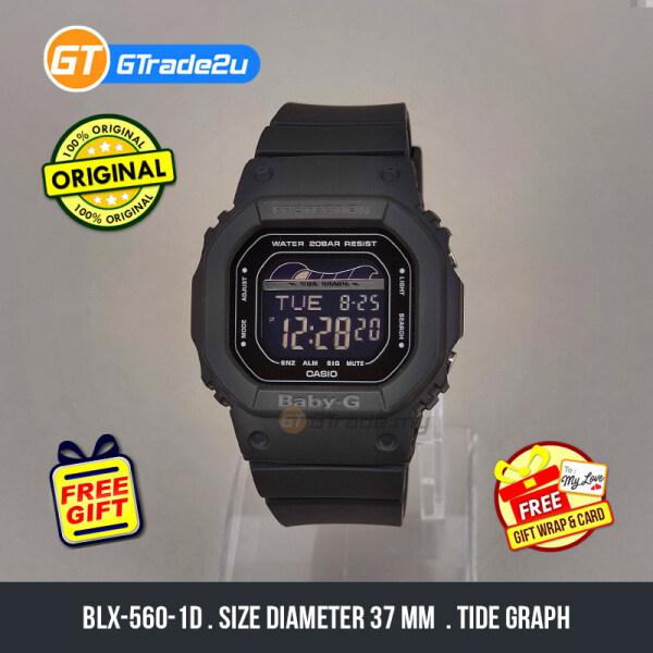 Casio Baby-G Ladies Women BLX-560-1D BLX-560-1 BLX560-1D Digital Baby-G G-Lide Watch Black Resin Band Baby G . jam tangan wanita . casio watch . casio watch women [READY STOCK] Malaysia
