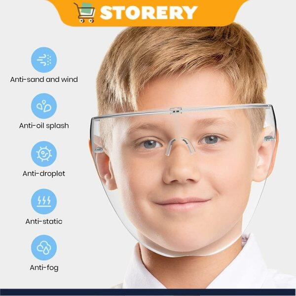 (Local Stock) Face shield for Kids Children Size Acrylic Full Cover Kids Face Protection