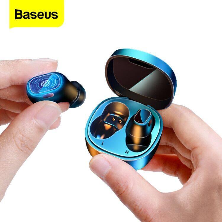 【New 】Baseus WM01 Tws Tai Nghe Bluetooth Âm Thanh Stereo Không Dây 5.0 Tai Nghe Bluetooth Điều Khiển Bằng Cảm Ứng Tiếng Ồn Hủy Bỏ Tai Nghe Chơi Game