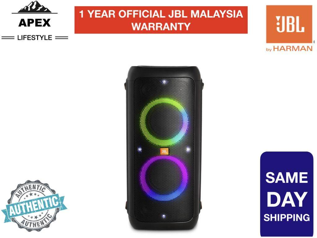 JBL PARTYBOX 300 RECHARGEABLE, HIGH POWER AUDIO SYSTEM WITH BLUETOOTH  CONNECTIVITY, LIGHTS SHOW AND MIC/GUITAR INPUT