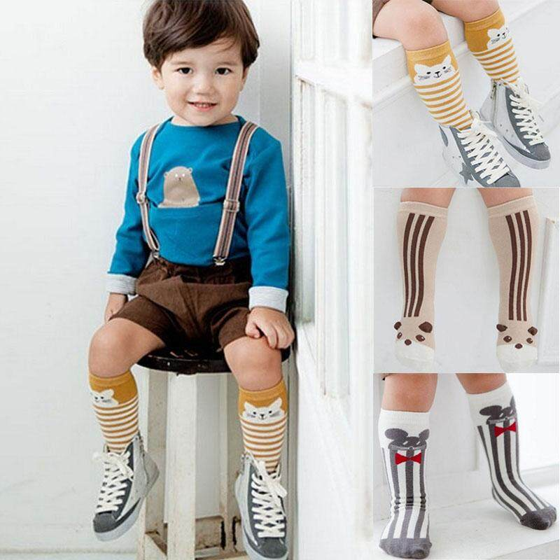 8d4e7e614 3 pairs Newborn Baby Socks For Girls Boys Animal Pattern Anti-slip Knee  High Socks