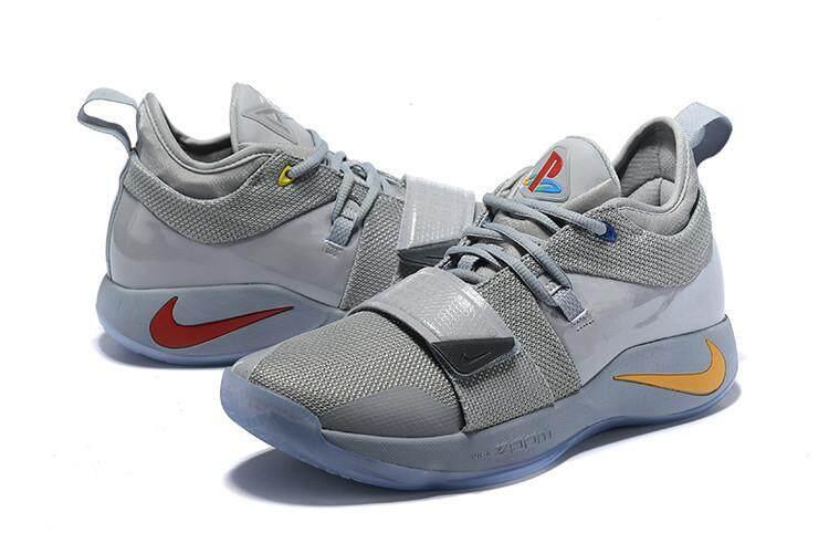 a117bdee5e37 Nike Resmi Paul George 2.5 Hitam Putih Penjualan Global Pria Basketaball  Sepatu PG-13