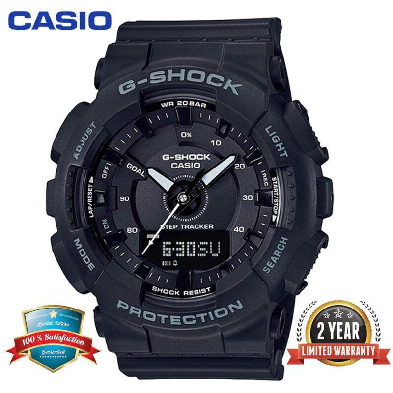 Original G Shock GMAS130 Sport Watch Duo W/Time 100M Water Resistant Shockproof and Waterproof World Time Pedometer Stept Counter Sports Watch LED Auto Light Wrist Sport Watches with 2 Year Warranty GMAS130/GMA-S131 Malaysia