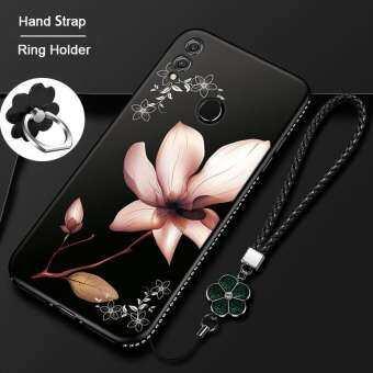 สำหรับ Huawei Y MAX พร้อมแหวนและสายคล้องมือ, แฟชั่นพลอยเทียมบลิงค์ดอกไม้ TPU เนื้อนิ่มบางซิลิโคนเคสใส่โทรศัพท์ฝาหลังสำหรับหญิงสาวเลดี้