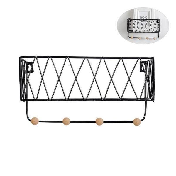 Aolvo Metal Floating Wall Shelves,Wall Storage Rack Hanging Holders Kitchen Organizer