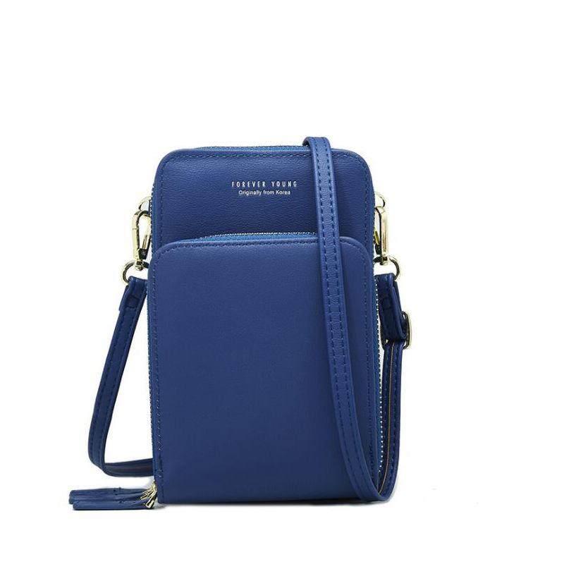 Women Big Capacity 3 Zipper Functional Bag Shoulder Bag Phone Bag Sling Bag