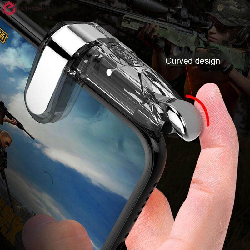 Efashionmall 1pair Game Shoot Button Gaming Trigger Game Shoot Triggers Controller Gamepad Smartphone Shooting Video Game Gaming Shooter Pubg Wireless Controller Fire Portable Mini By Efashionmall.