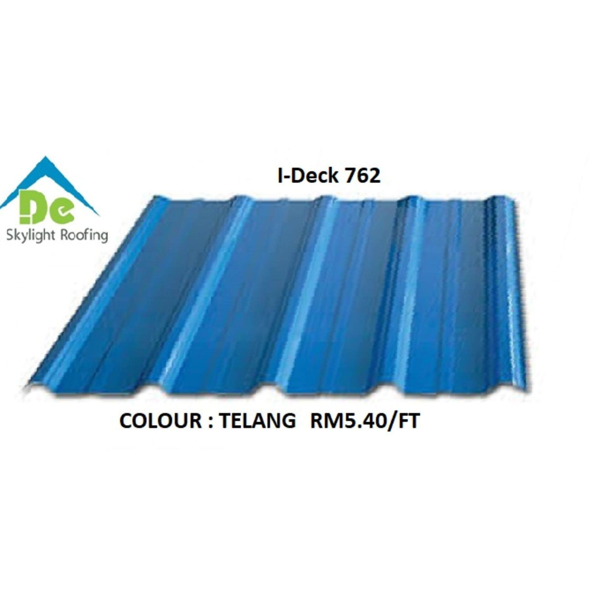 Metal Roofing I-Deck 762 Thickness 0.47mm TCT De Skylight Roofing