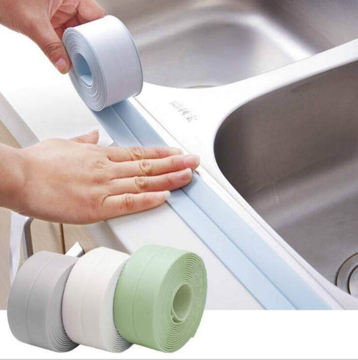 1PCS PVC Material Sink Stove Crack Strip Kitchen Bathroom Bathtub Corner Sealant Tape Waterproof [Width 3.8Cm, Length 3.2 M]
