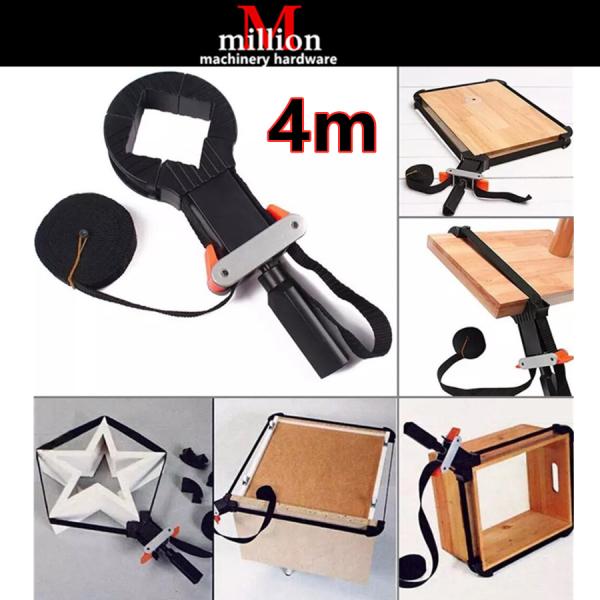 millionhardware -25mm x 4/6/10meter Nylon Multi-Function Multifunction Belt Clamp Binding Long Belt Clamp Woodworking Band Strap Clamp Ratchet Corner Miter Mitre Vise Handle Tools