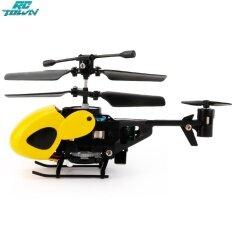 Mô hình máy bay trực thăng mini RCTOWN tay cầm hồng ngoại 2 kênh, gắn con quay hồi chuyển, kèm điều khiển từ xa và cáp sạc USB, đồ chơi hoạt hình phát triển trí tuệ cho trẻ em – INTL