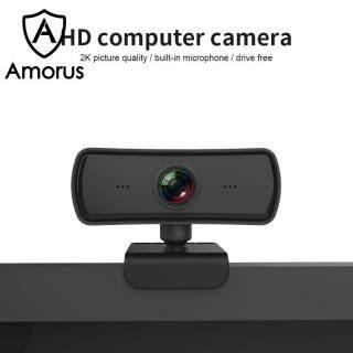 Camera Amorus 4MP 2K Tự Động Lấy Nét HD 1080P Camera Xoay 360 Độ USB Có Mic thumbnail