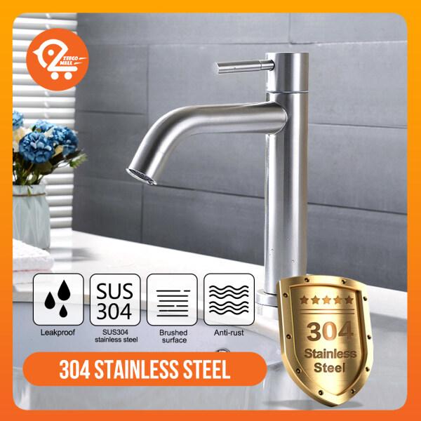 ZEEGO SUS 304 Stainless Steel Faucet Bathroom Wash High Basin Tap Ceramic Disc Valves Kitchen Sink Water Tap