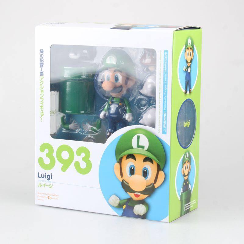 Super Mario Figure Toy Nendoroid Mario 473 Luigi 393 With Toad Mushroom Goomba Ghost Bullet Great Model Figure Toys