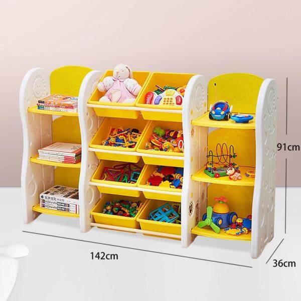 Kids Toy Organizer, Book Racks Bookshelf, Childrens Toys Mini Multi-Function Plastic Box, 6 Shelves and 8 Bins in Fun Colors, Toy Storage Rack