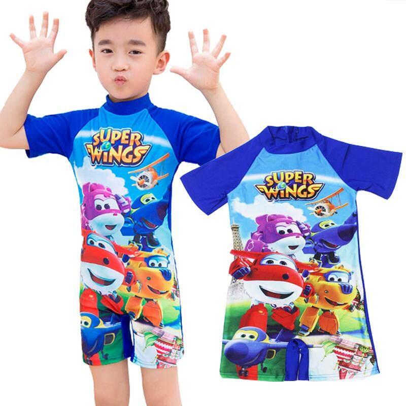 7c7d74955f SuperWings Kids Cartoon Boy Girl Swimsuit Muslimah Swimwear One Piece  Swimming Suit