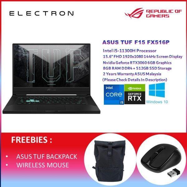ASUS TUF DASH F15 FX516P-MHN085T 15.6 FHD 144Hz GAMING LAPTOP I5-11300H, 8GB, 512GB SSD, RTX 3060 6GB, W10 Malaysia