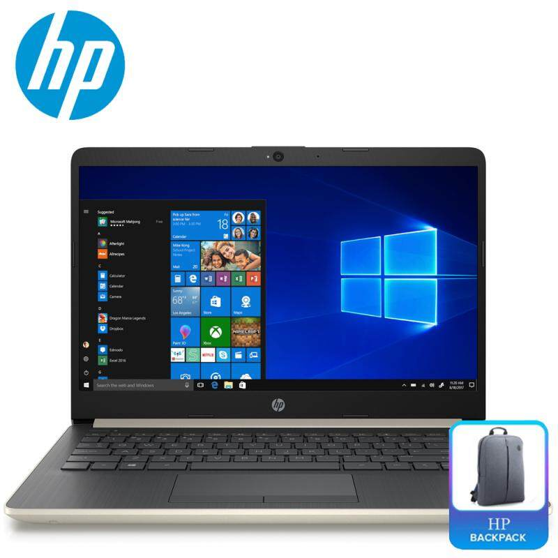 HP 14s-cf0065TU Laptop (Celeron N4000, 256GB, 4GB, Intel HD, W10) (N4000/4GB/500GB/14/W10/1YR) Malaysia