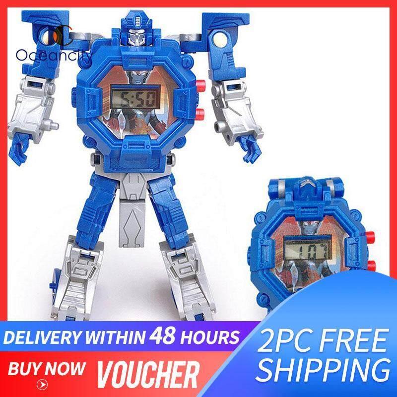 Nơi bán Oceancity Đồng Hồ đồ chơi trẻ em Dây 2 trong 1 robot Đồng hồ điện tử/biến dạng đồng hồ điện tử