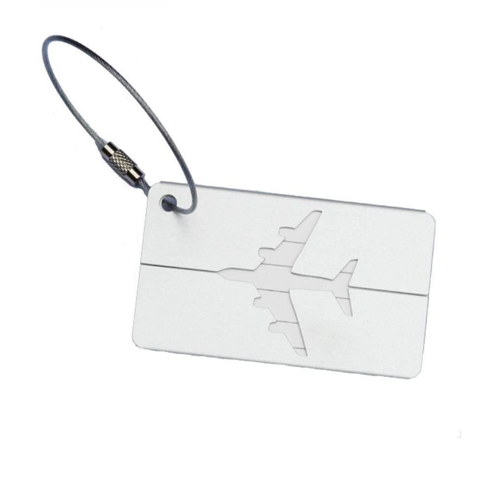โลหะป้ายห้อยกระเป๋าเดินทางผู้ถือป้ายชื่อกระเป๋า Id ที่อยู่ Tags บัตรขึ้นเครื่องบิน By Elecyfor456.