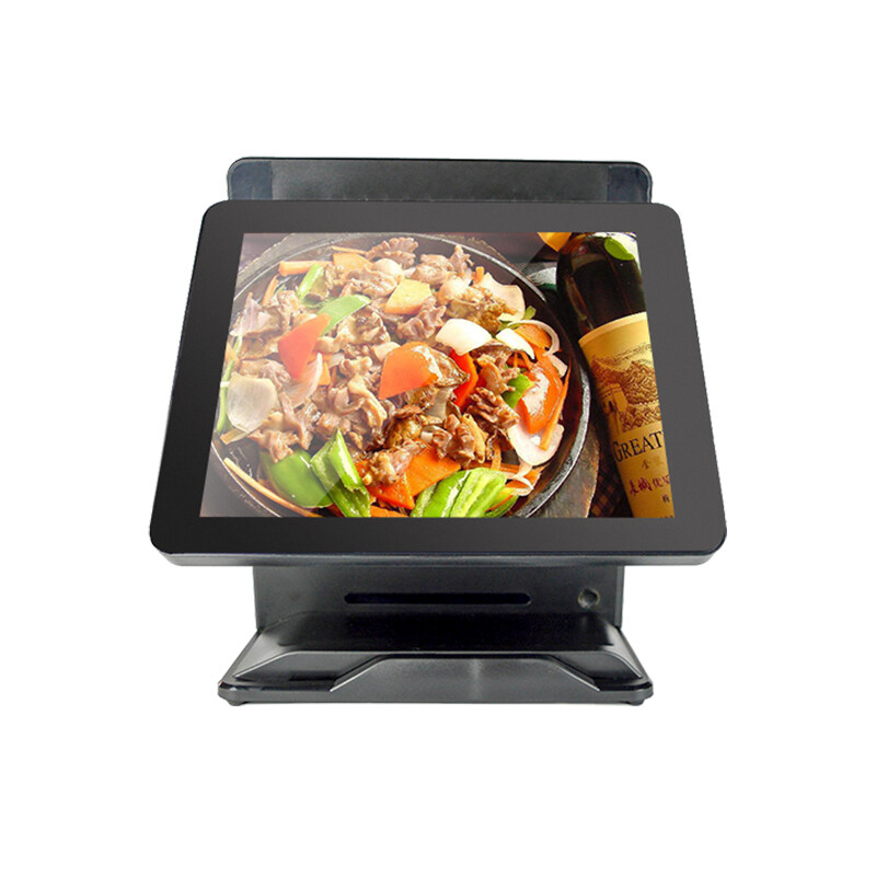 Factory sale POS System for restaurants 15+15 dual screen hot sale Point of Sale cashier electronic computer Cash Register