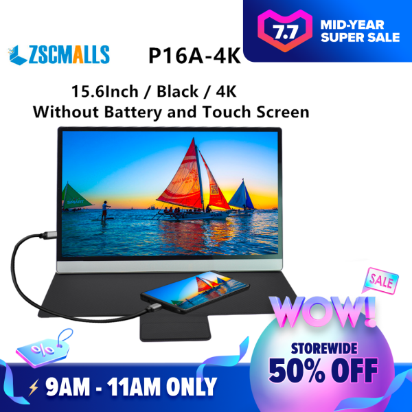 ZSCMALLS UHD 4K portable 15.6 inchZ IPS support type-c 3840*2160 computer laptop monitor Malaysia