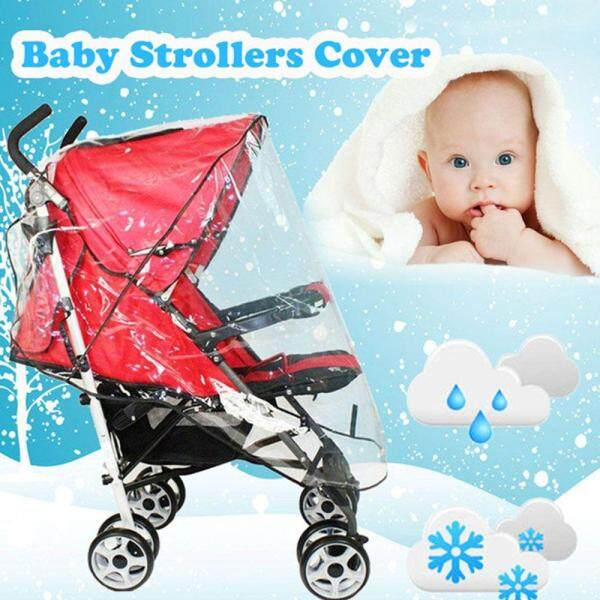 Universal Plastic Waterproof Strollers Cover Wind Shield Pushchairs Rain Shades Singapore