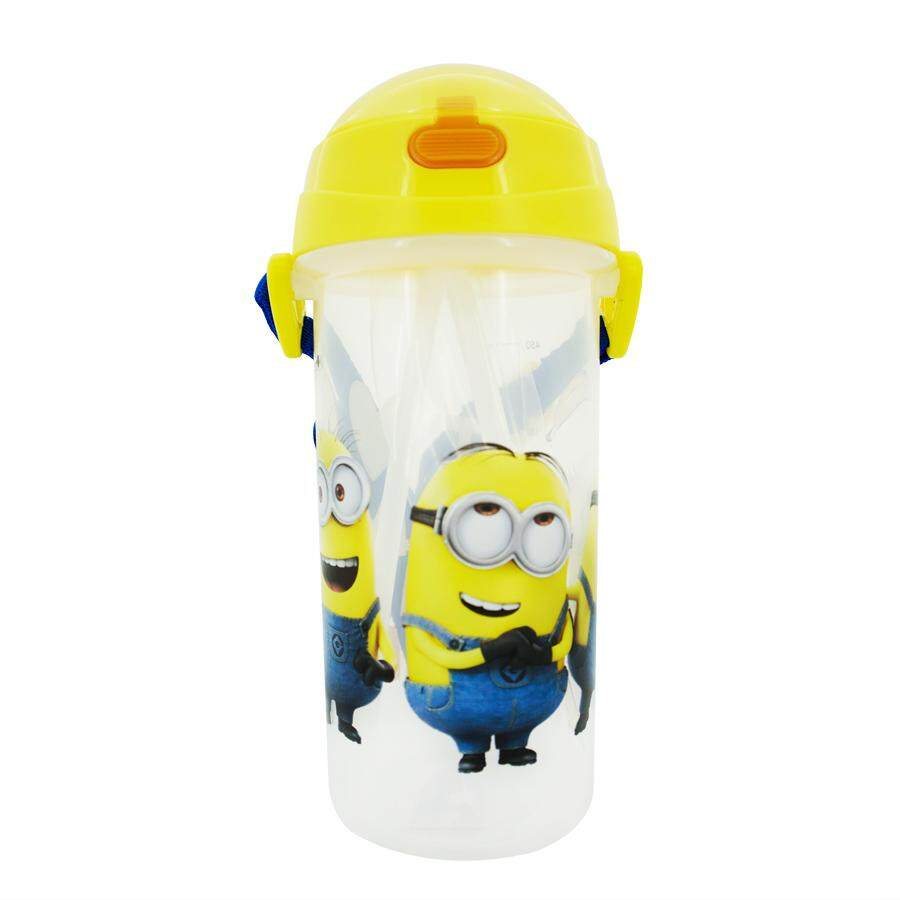 087d2df71d Kidztime x Minions Children Toddler BPA Free Cartoon Character Water Bottle  With Drinking Straw Cap –
