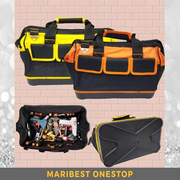 16 Inches ABS Base Canvas Heavy Duty Large Capacity Multi-Compartment Pouch Shoulder Tool Storage Bag