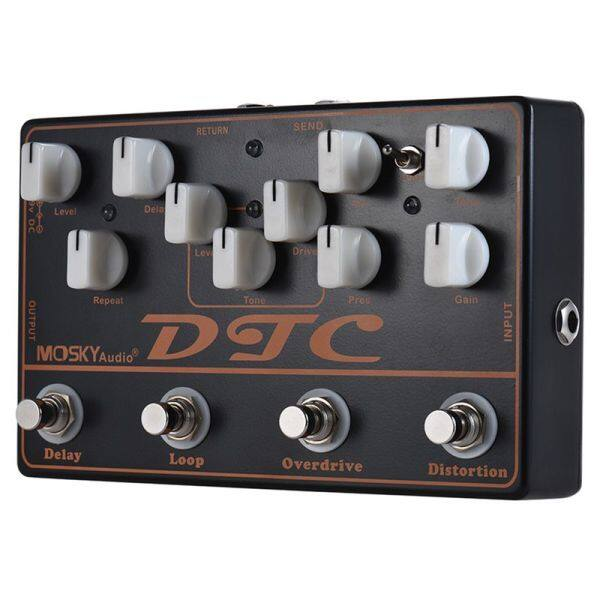 MOSKY DTC 4-in-1 Electric Guitar Effects Pedal Distortion + Overdrive + Loop + Delay Malaysia