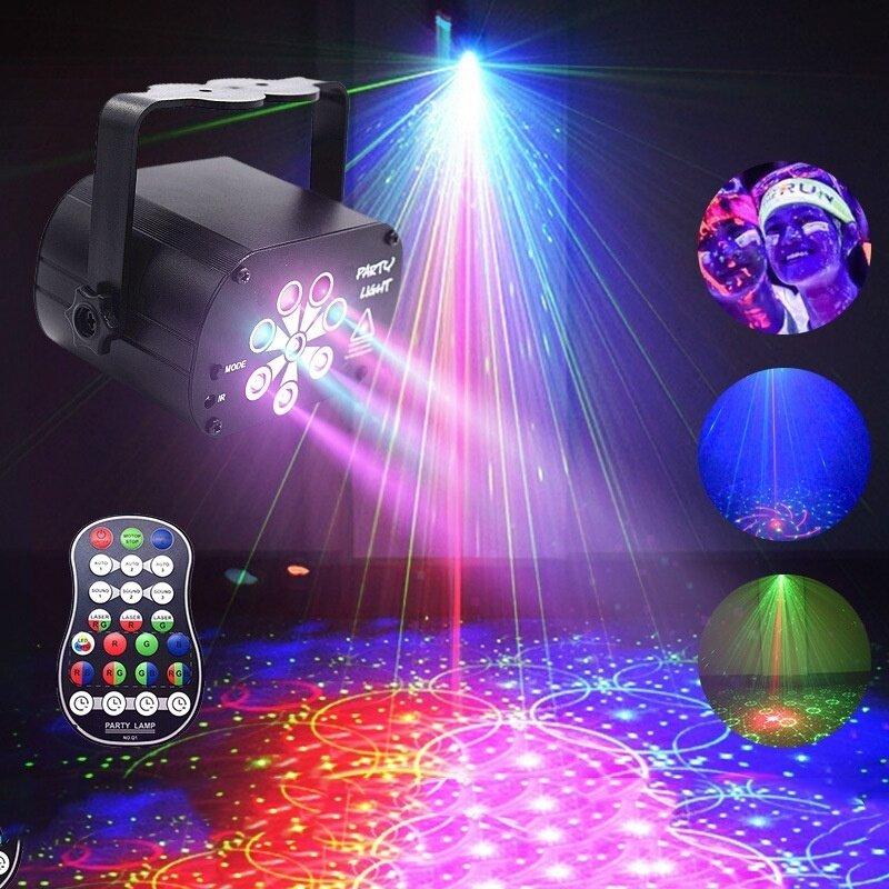 Nâng cấp mới trong đèn chiếu bầu trời đầy sao 8 lỗ đầy màu sắc 2020 Đèn Chiếu Laser UV Đèn Câu Lạc Bộ tiệc cưới Disco DJ
