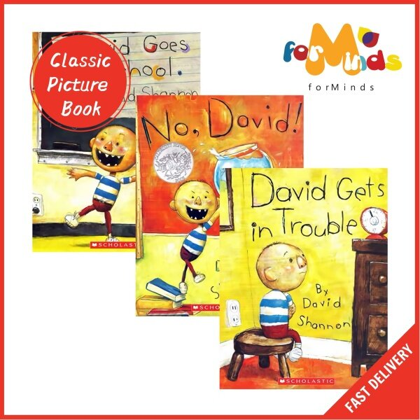 forMinds【🇲🇾Ready Stock】SOFT COVER【No David David Goes to School David Gets In Trouble】Childrens Book, Picture Book, Story Book, Kids Book Malaysia